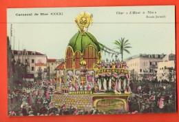 GBD-09  Carnaval De Nice XXXXI Char L'Hivver à Nice , Le Soleil. Litho . Dessin Jarnach. Editeur Giletta Non Circulé - Carnaval