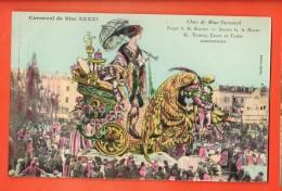 GBD-09  Carnaval De Nice XXXXI Char De Mme Carnaval. Litho . Dessin Mossa. Editeur Giletta Non Circulé - Carnaval