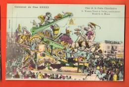 GBD-10 Carnaval De Nice XXXXI Char De La Petite Chocolatière. Litho . Dessin Mossa. Editeur Giletta Non Circulé - Carnaval