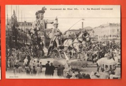 GBD-16  Carnaval De Nice XL  Sa Majesté Carnaval. Circulé Sous Enveloppe En 1912 - Carnaval