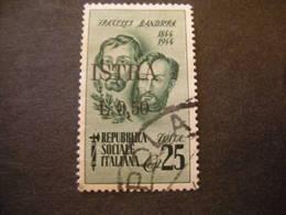 OCCUPAZ. IUGOSLAVA - ISTRIA, 1945, Sass. N. 31 , Cent. 50 Su C. 25, Usato, TTB - Jugoslawische Bes.: Istrien