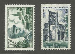 FRANCE - N°YT 984/85 NEUFS** SANS CHARNIERE - COTE YT : 5.70€ - 1954 - France