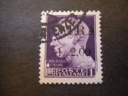 OCCUPAZ. IUGOSLAVA - ISTRIA, 1945, Sass. N. 29 , L. 2 Su L. 1, Usato, TTB - Jugoslawische Bes.: Istrien