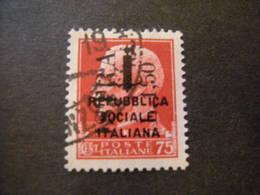 OCCUPAZ. IUGOSLAVA - ISTRIA, 1945, Sass. N. 28 , L. 1,50 Su C. 75, Usato, TTB - Occup. Iugoslava: Istria