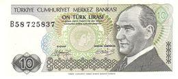Turkey P.192 10 Lirasi 1979  Unc - Turkey