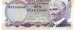 Turkey P.185 5 Lirasi 1976 Unc - Turkey