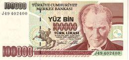 Turkey P.206  100000 Lirasi 1997 Unc - Turkey
