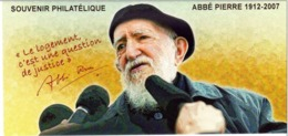 Année 2011 - Bloc Souvenir N° 66 - T-P N° 4435 - Abbé Pierre 1912-2007 - Fondateur De La Communauté Emmaüs - Souvenir Blocks & Sheetlets
