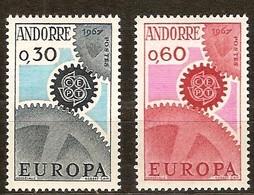 Andorra Andorre Cept 1967 Yvertn° 179-180 *** MNH Cote 25 Euro - Neufs