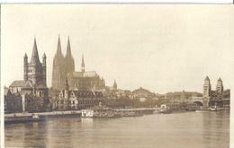 COLOGNE  LES BORDS DU RHIN  MAI 1919   CARTE PHOTO - Orte