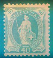 Nr. 68 A Postfrisch Michel  45 € - 1882-1906 Armoiries, Helvetia Debout & UPU