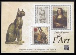 Année 1999 - Feuillet N° 23 - T-P N° 3234 à 3236 - Philexfrance 99 - Chefs D'oeuvre De L'Art : Vénus De Milo, Joconde - Nuovi