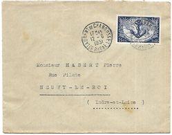 LF A9  Lettre De 1951 Timbre N°889 - Marcophilie (Lettres)