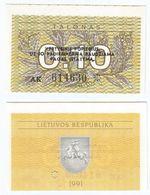 Lituania - Lithuania 0,10 Talonas 1991, 3 Líneas Texto Pick 29.b UNC - Lituanie