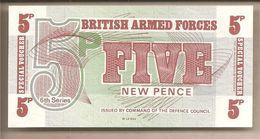 Forze Armate Britanniche - Banconota Non Circolata Da 5 New Pence - 6° Serie - Prima Emissione - P-M44a -1972 - Emissioni Militari