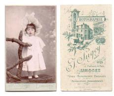(Photo Carte De Visite) 245, Portrait Enfant, Fillette En Robe, J Sugey à Limoges - Photos