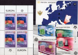 Flaggen Kiribati 994 4-KB,Montenegro 108/1 B+Block 3 ** 124€ Karte Hb S/s Maps Sheet Flag Sheetlet Bf 50 Years CEPT - Stamps