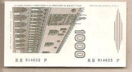 """Italia - Banconota Non Circolata FdS Da 1000 £ """" Marco Polo"""" Lettera B P-109a - 1983 - [ 2] 1946-… : République"""