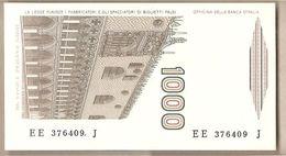 """Italia - Banconota Non Circolata FdS Da 1000 £ """" Marco Polo"""" Lettera E P-109b - 1988 - [ 2] 1946-… : République"""