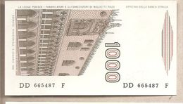 "Italia - Banconota Non Circolata FdS Da 1000 £ "" Marco Polo"" Lettera D P-109a - 1985 - [ 2] 1946-… : République"