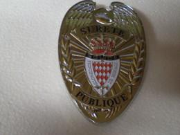 Plaque De Ceinture De La Police De MONACO,neuve - Police