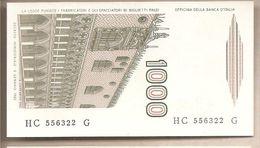 """Italia - Banconota Non Circolata FdS Da 1000 £ """" Marco Polo"""" Lettera C P-109a - 1984 - [ 2] 1946-… : République"""