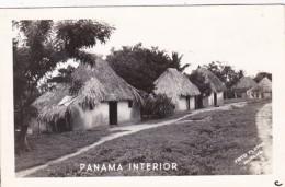 Panama Interior Typical Native Huts Real Photo - Panama