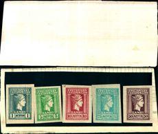 85894) SAMOS-TESTA DI MERCURIO--MNH**- Serie Complete 1912-N.4-8 NON DENTELLATA - 1910 - ... Repubblica