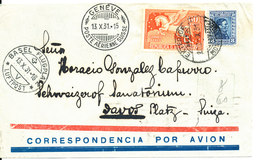 Uruguay Air Mail Cover Sent To Switzerland 8-10-1931 With More Postmarks - Uruguay