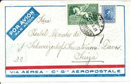 Uruguay Air Mail Cover Sent To Switzerland 15-10-1931 - Uruguay