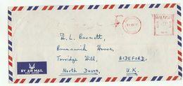 1973 MALAYSIA COVER METER PB30 Stamps Sandakan Sabah To GB , Malaya - Malaysia (1964-...)