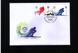 Slowenien / Slovenia 2018 Olympic Games Pyeongchang FDC - Winter 2016: Lillehammer (Youth Olympic Games)