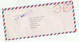 1973 MALAYSIA COVER METER Stamps Hargill Construction Equipment Co Kuala Lumpur  To GB , Malaya - Malaysia (1964-...)