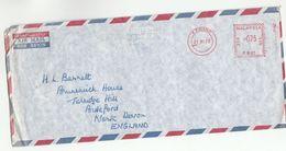 1973 MALAYSIA COVER METER PB81 Stamps Plantation Agencies P Pinang  To GB , Malaya - Malaysia (1964-...)