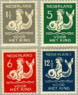 1929 Kind NVPH 225-228 Ongestempeld/MH/* - Periode 1891-1948 (Wilhelmina)
