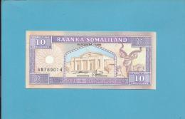 SOMALILAND - 10 SHILIN ( SHILLINGS ) - 1996 - Pick 2.b - UNC.  - 2 Scans - Other - Africa