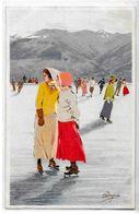 CPA Pellegrini Ski Sport D'hiver Neige Non Circulé Vouga M 1 - Otros Ilustradores