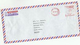 1973 MALAYSIA COVER METER PB15 Stamps Kota Kinabalu Sabah To GB , Malaya - Malaysia (1964-...)