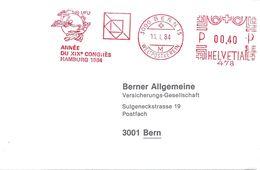 "Freistempel  ""UPU - Année Du XIXe Congrès Hamburg""            1984 - Storia Postale"