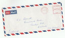 1973 MALAYSIA COVER METER U87 Stamps Melaka  To GB , Malaya - Malaysia (1964-...)