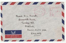 1988 MALAYSIA COVER METER RE120 Stamps Kuala Lumpur To GB , Malaya - Malaysia (1964-...)