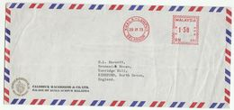 1973 MALAYSIA Illus ADVERT COVER LION Emblem, Caldbeck Macgregor Co , METER RN480 Stamps Kuala Lumpur To GB , Malaya - Malaysia (1964-...)