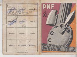 Tessera  PNF 1933 Prato Fasci Giovanili Di Combattimento Difetto - Historical Documents
