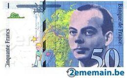 """1 Billet De Banque Français De 50 Francs """"saint - Exupéry""""- UNC - - 1992-2000 Last Series"""