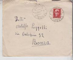 Storia Postale Regno 1945 Luogotenenza Emissione Roma Isolato Prato Firenze - Storia Postale