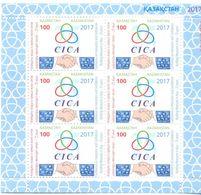 2017. Kazakhstan, 25y Of  CICA Conference, Sheetlet, Mint/** - Kazakhstan