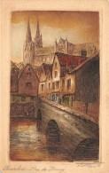 EURE ET LOIR  28  CHARTRES  CARTE DESSINEE - EAU FORTE ILLUSTRATEUR  ROUX  RUE DU BOURG - Chartres