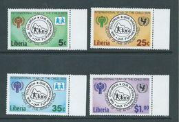 Liberia 1979 International Childrens Year Set 4 MNH - Liberia