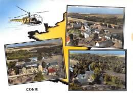 EURE ET LOIR  28   CONIE   TROIS VUES AERIENNES - HELICOPTERE - Autres Communes
