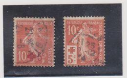 FRANCE   1914  Y.T. N° 146  147  Oblitéré - 1906-38 Semeuse Con Cameo